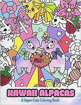 Amazon.com: Kawaii Alpacas: A Super Cute Coloring Book (Kawaii ...