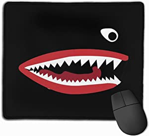 Flying Tigers P-40 Warhawk Shark Mouth Teeth Nose Mouse Pads Non-Slip Gaming Office Mouse Pad Rectangular Rubber Mouse Pad