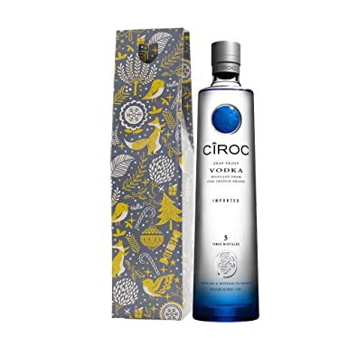 Ciroc Original Vodka Xmas Gift Set with Hand Made Merry Christmas Gifts2Drink Tag: Amazon.co.uk: Grocery
