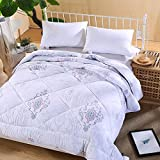 Polyester bed/bedding Warmth Full/Queen/Full/Twin Size Comforter Duvet Insert,Hypoallergenic Box Stitched,Feather Quilting Duvet,2×2.3m (3Kg)