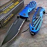 Tac-force Speedster Blue High Carbon Rescue Glass Breaker Knife