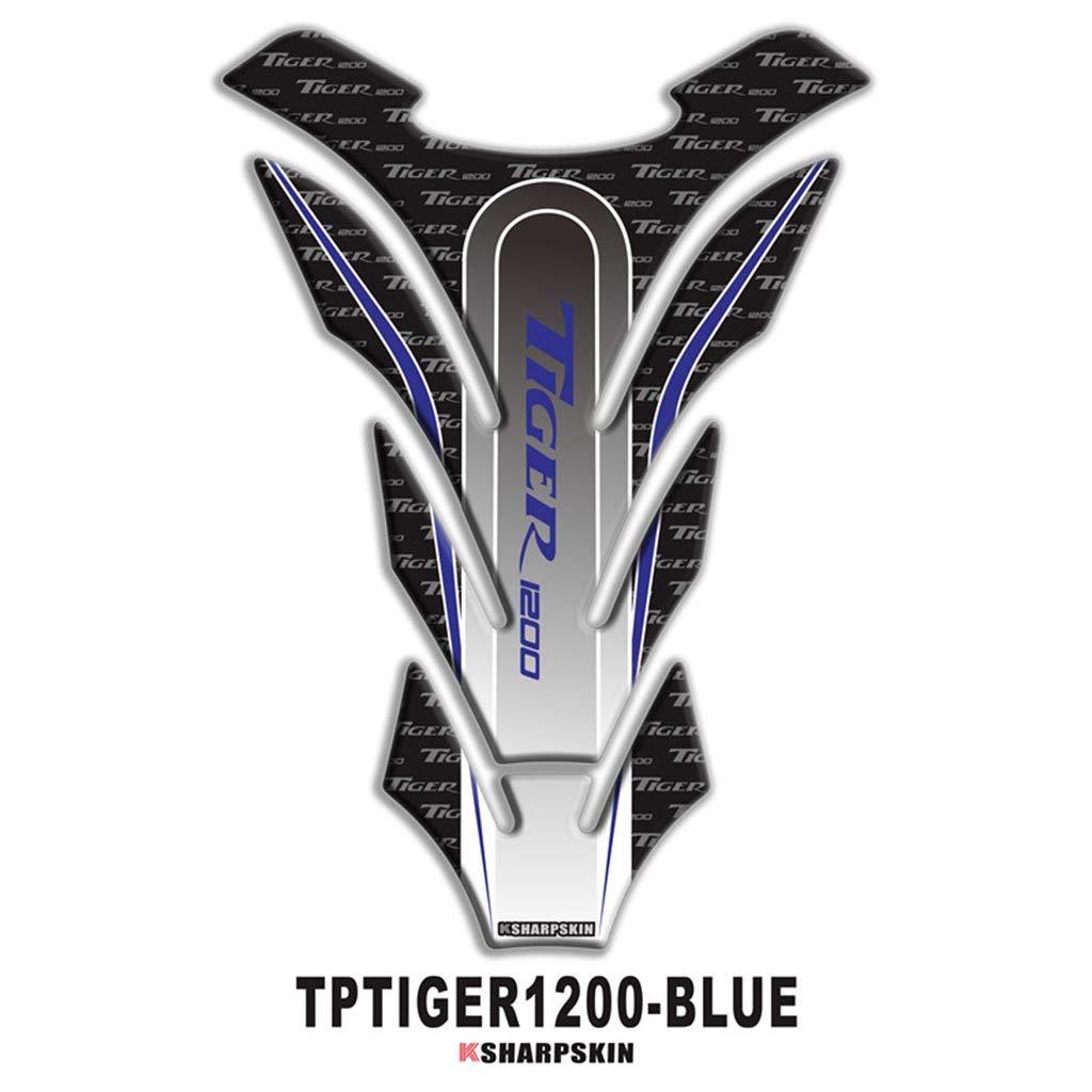 psler Etiqueta engomada protectora de la etiqueta engomada del tanque de combustible de la motocicleta 3D para TIGER 800 Rojo