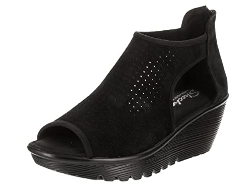 90021ce4b5 Skechers Parallel Beehive Womens Wedge Sandals Black 5: Amazon.ca ...