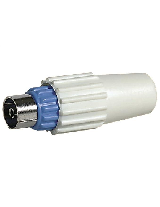 Legrand LEG91013 - Clavija coaxial hembra para TV (tipo IEC, salida de cable trasera): Amazon.es: Bricolaje y herramientas