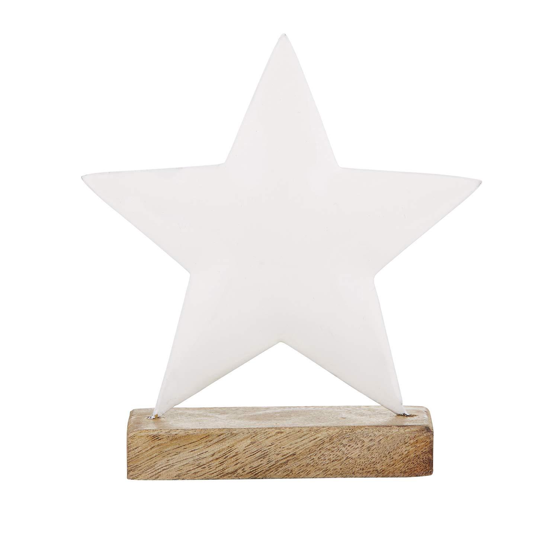Stephan Baby Enamel Nursery Decor Collection, White Star On Mango Wood Stand
