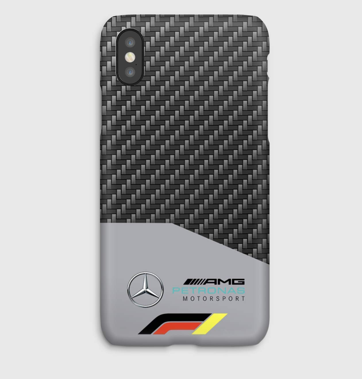 Carbon F1 Mercedes iPhone cas 4, 4S, 5, 5SE, 5S, 5C, 6, 6S, 6S + 6+, 7, 7+, 8, 8+, iPhone X,