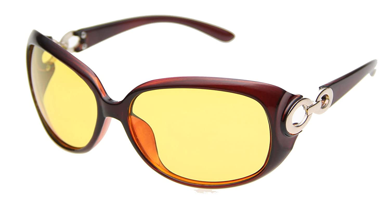 Agstum Womens Polarized Night Vision Driving Glasses Sunglasses A-20165