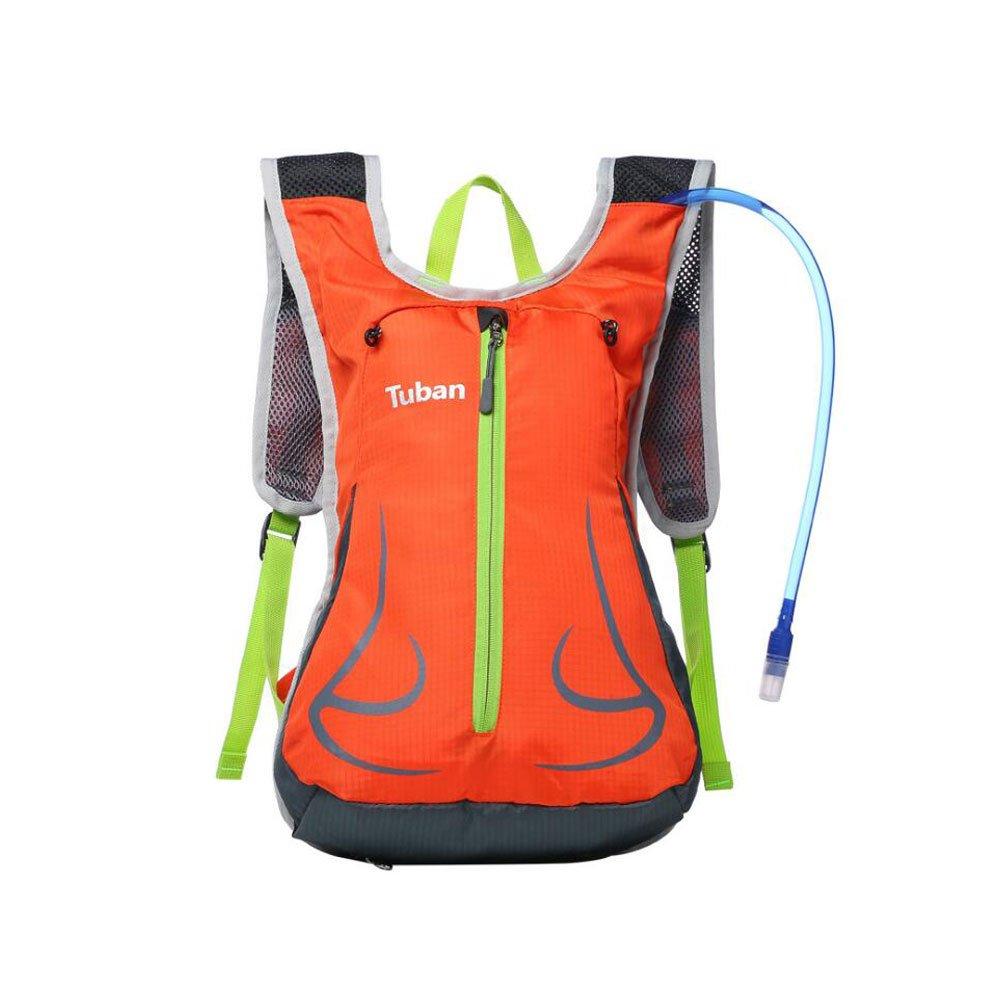 MeiBoAll Cycling Shoulder Backpack Traveling Running Ride Breathable Cycling Mountain Oxford Material Bag 1 Pcs Orange new