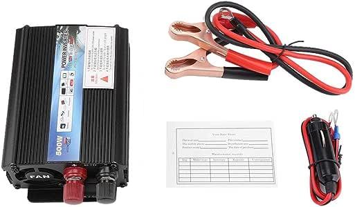 wosume Solar Inverter, Inverter 12 V Converter 220V / 100V 500W Power Inverter with Solar Panel for Household(12 to 110v/500W)