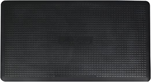 WellnessMats Estates Linen Onyx Polyuerthrane 3 x 2 Feet Anti-Fatigue Mat