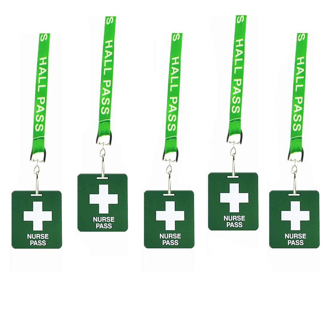 Hall Pass Lanyards with Card Passes, Unbreakable