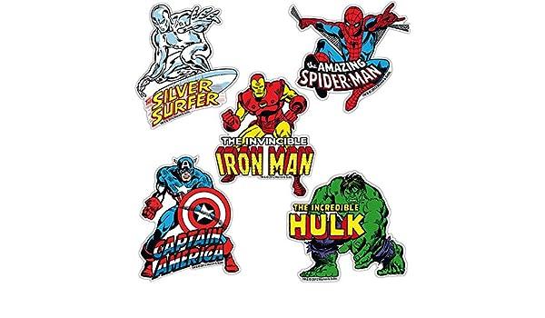 Logoshirt Juego de imanes de Nevera Marvel Comics - Juego de 5 ...