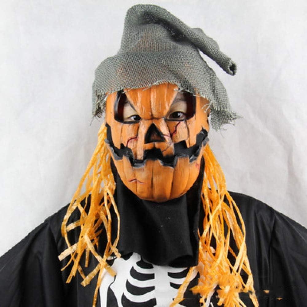 Halloween Látex Calabaza Espantapájaros Máscara De Terror Arnés ...