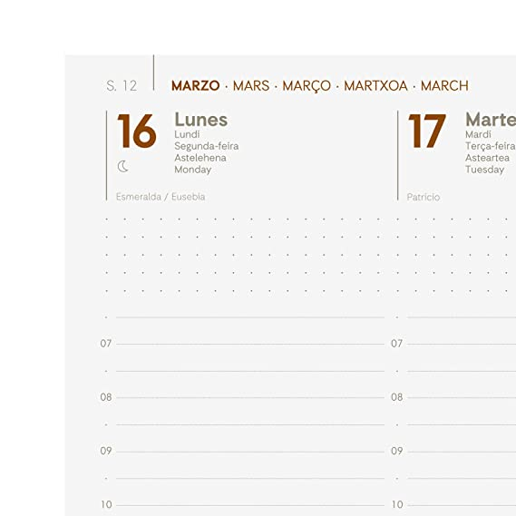 Finocam - Agenda 2020 semana vista vertical Dynamic Mara Negro español