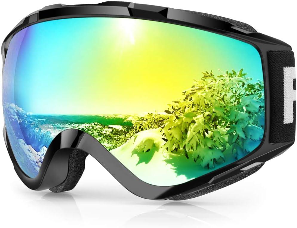 findway Gafas de Esquí, Máscara Gafas Esqui Snowboard Nieve Espejo para Hombre Mujer Adultos Juventud Jóvenes OTG Compatible con Casco,Anti Niebla ...
