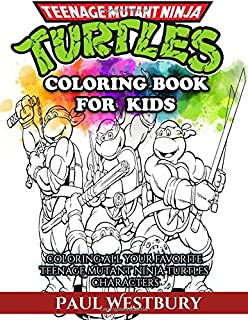 teenage mutant ninja turtles coloring book for kids coloring all your favorite teenage mutant ninja - Teenage Mutant Ninja Turtles Coloring Book