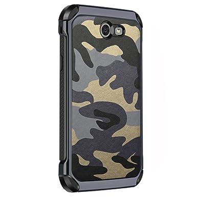 3en1 Funda para Samsung Galaxy J6/J6+ Camuflaje Militar Carcasa Ultra-Delgado Anti-Arañazos Caso Protectora Silicone Cover Funda Estuche Resistente