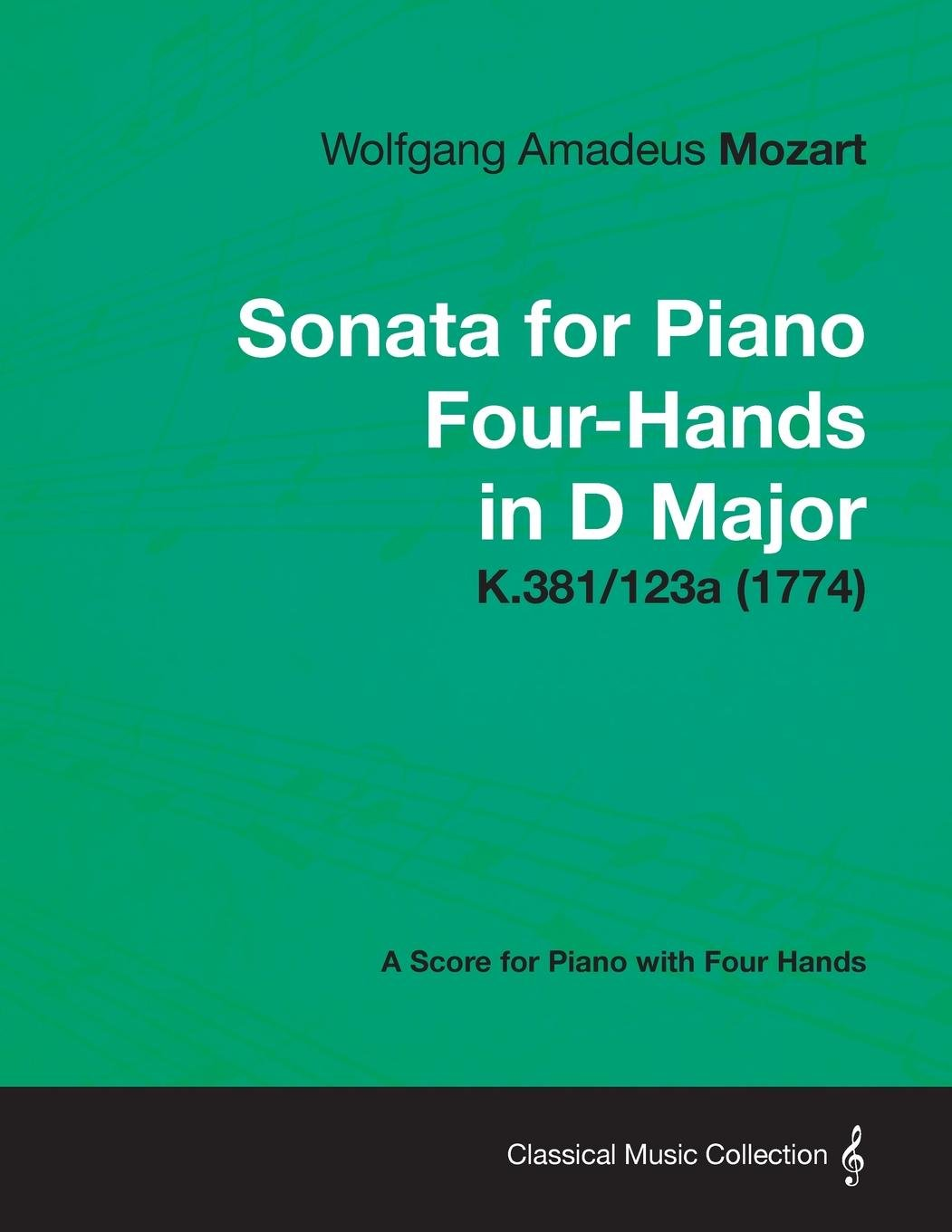 Download Sonata for Piano Four-Hands in D Major - A Score for Piano with Four Hands K.381/123a (1774) pdf