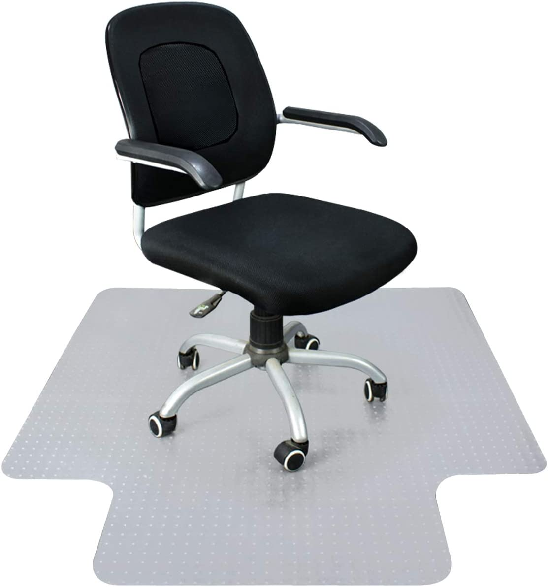 """Super Deal Upgraded 48"""" X 36""""/ 60'' X 48'' - 1/8"""" Heavy Duty Carpet Chair Mat w/Lip, Transparent Chair mat for Office Chair Rug Carpet Floor Computer Desk Low and Medium Pile Carpets (#2) (4836'') : Office Products"""