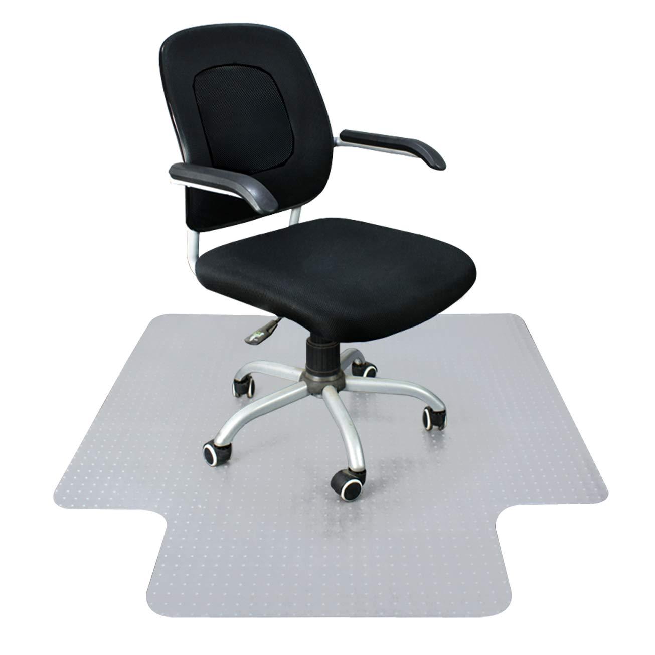 "Super Deal Upgraded 48"" X 36""/ 60'' X 48'' - 1/8"" Heavy Duty Carpet Chair Mat w/Lip, Transparent Chair mat for Office Chair Rug Carpet Floor Computer Desk Low and Medium Pile Carpets (#2) (4836'')"