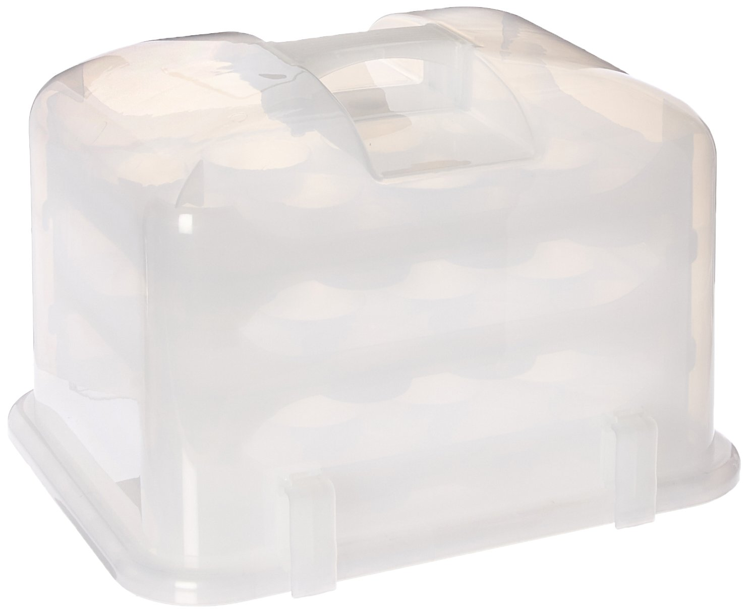 Cupcake Courier G0214B Cupcake Carrier- White Translucent, by Cupcake Courier