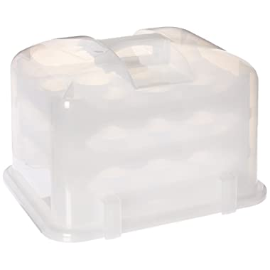 Cupcake Courier G0214B Cupcake Carrier- White Translucent,