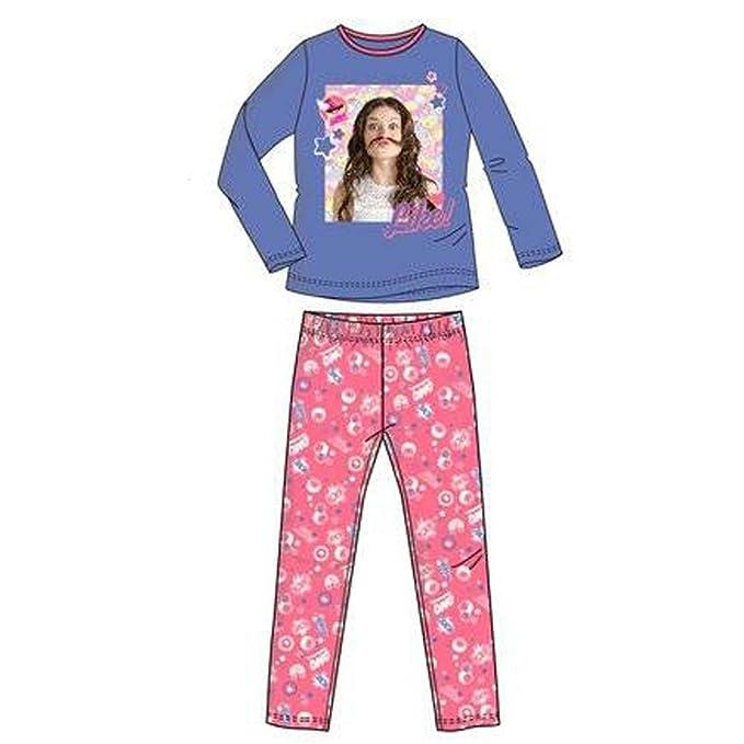 Soy Luna - Pijama NIÑA niñas Color: Azul Talla: 12 años
