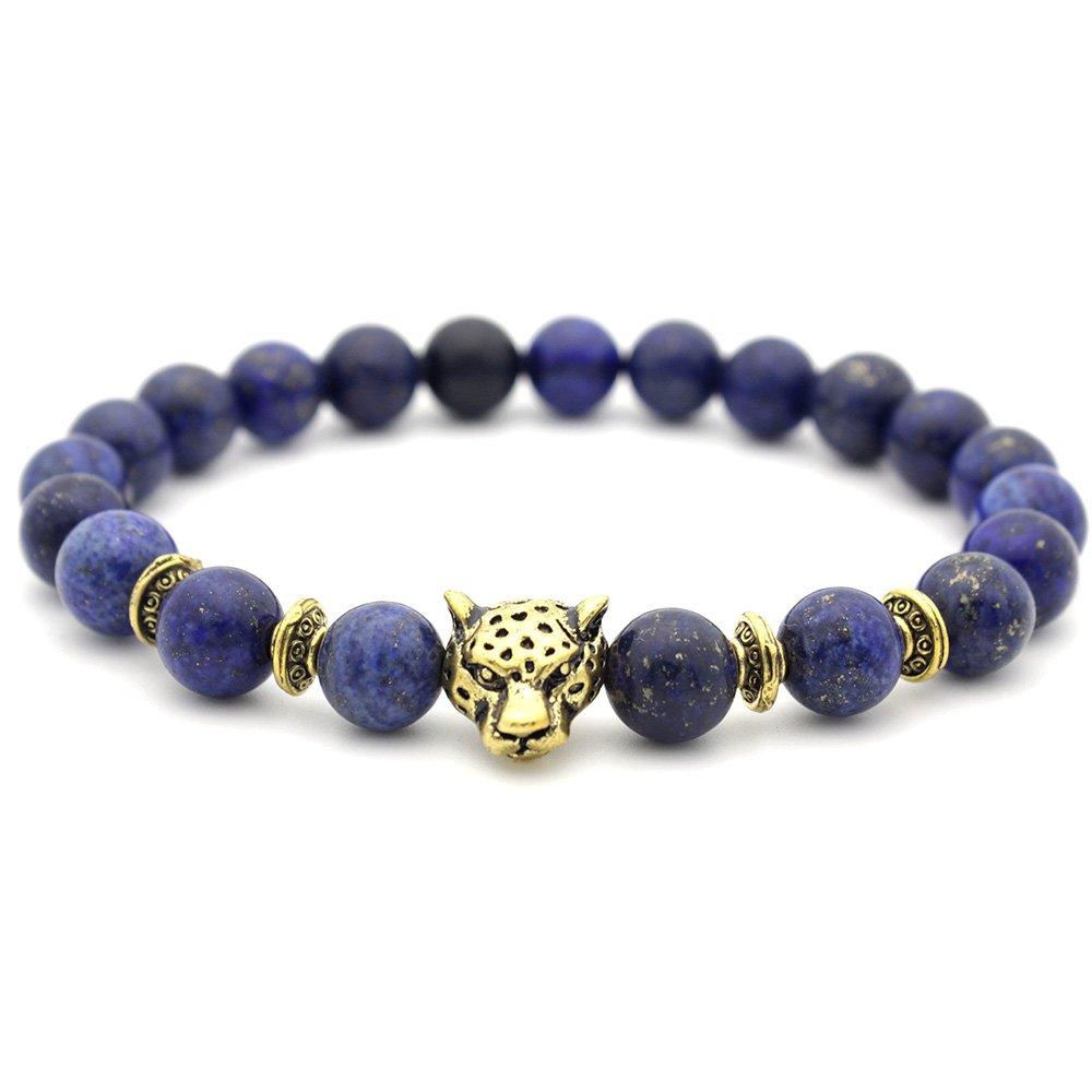 anzhongli Bead Bracelet for Men Women Beaded Bracelets Stone Elastic Yoga Bangle 0824nls04