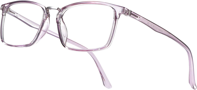 PORPEE Gafas de Filtro de Luz Azul, Gafas de Ordenador con Lente de Película Verde, Gafas Lectura Reduce Fatiga - 100% Protección UV/Radiacion - Marco Ultraligera de Moda