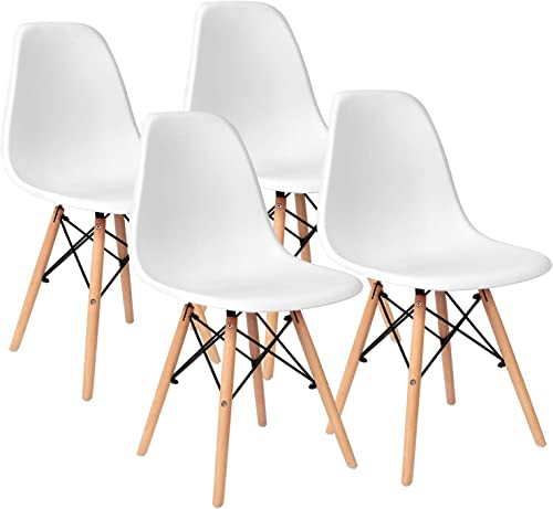 VICTONE Pre Assembled Mid Century Modern Style Dining Chair DSW Shell Plastic Chair Kitchen