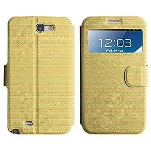 LEOCASE zigzag Funda Carcasa Cuero Tapa Case Para Samsung Galaxy Note 2 N7100 No.1007217