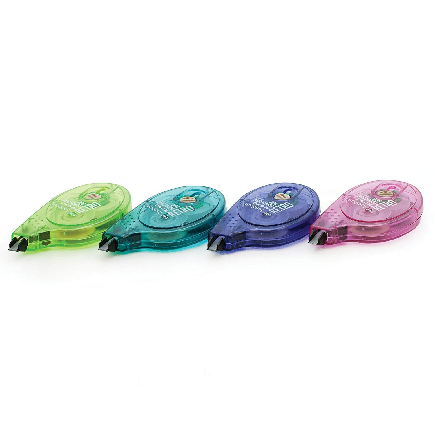 Tombow 68723 MONO Retro Correction Tape, Assorted Colors, 10-Pack. Colorful, Easy To Use Applicator for Instant Corrections - Pack of 5 by Tombow (Image #4)