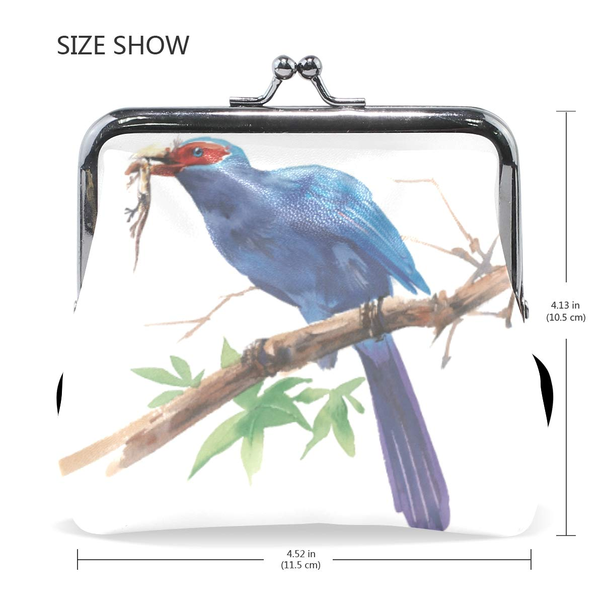 CLveg PU Leather Coin Purse Card Package Small Wallet shopping series Predatory Bird