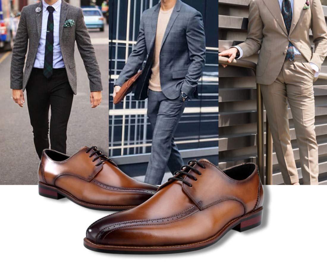 0307180867e ... DANDANJIE Hombres Zapatos De Negocios Estilo Británico Zapatos Casuales Formal  Formal Formal Zapatos De Boda Brogue ...