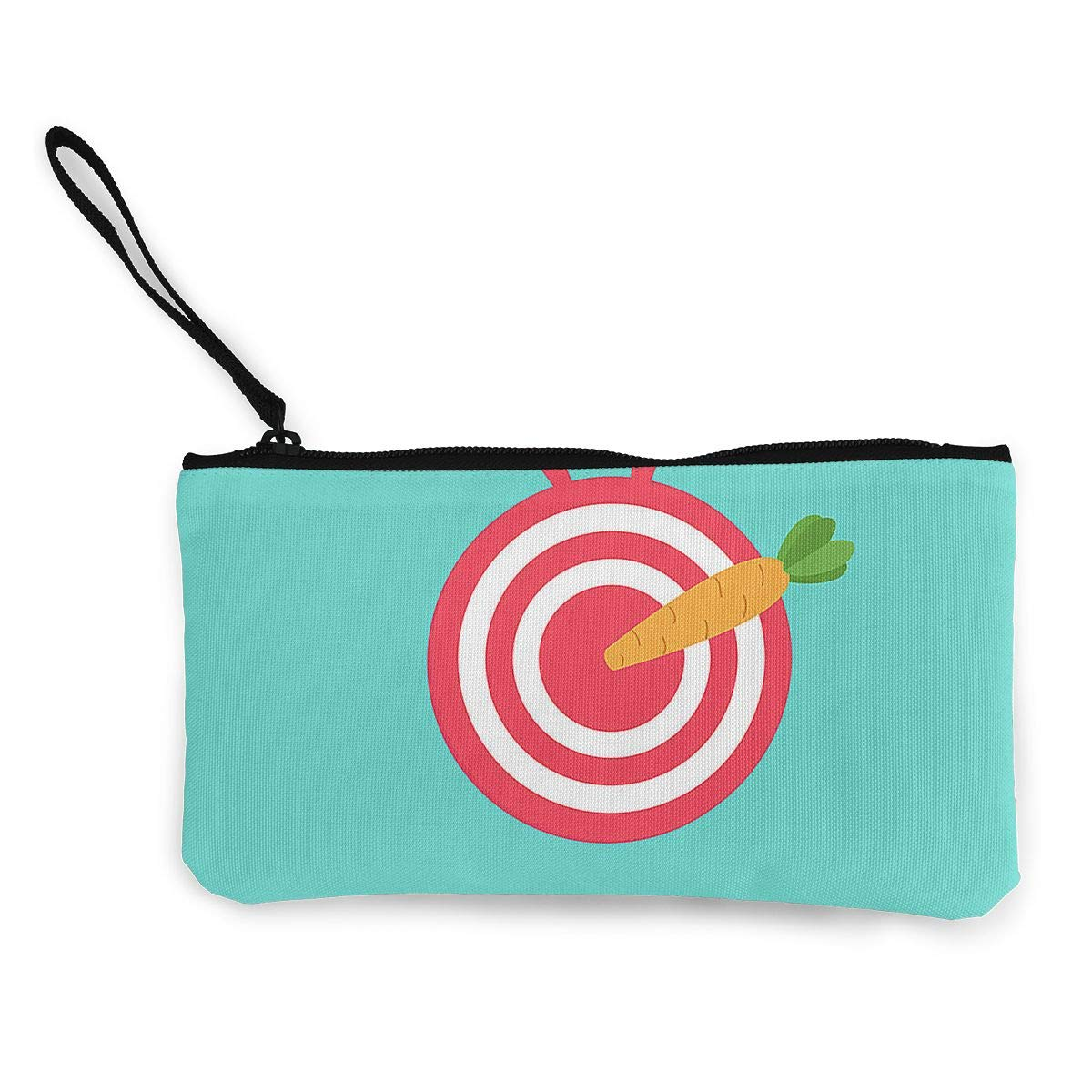 Maple Memories Easter Carrot Eggs Portable Canvas Coin Purse Change Purse Pouch Mini Wallet Gifts For Women Girls