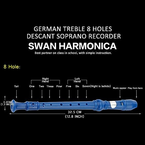 Amazon.com: Flauta de música Soprano de 8 agujeros con ...