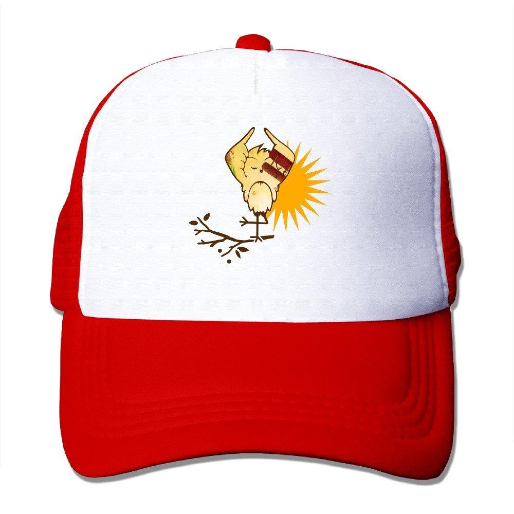 LQYG Sun bird Hip-Hop Cotton Hats Trucker Hat For Outdoor Sports Black