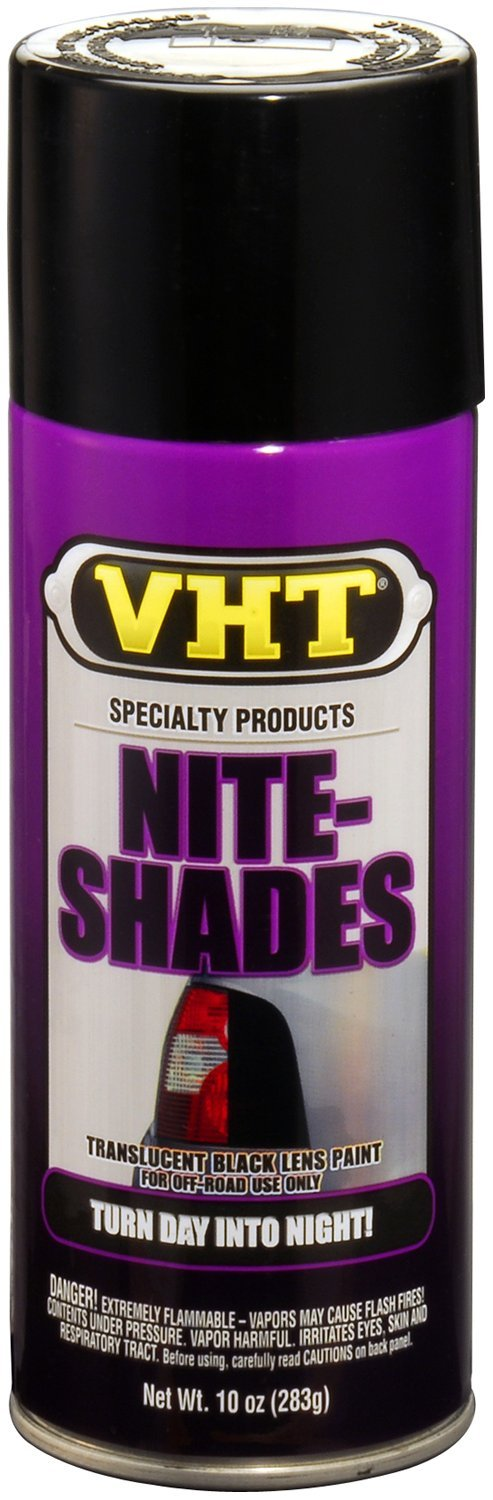 VHT (SP999-6 PK Black Nite-Shade Lens Tint - 10 oz. Aerosol, (Case of 6)