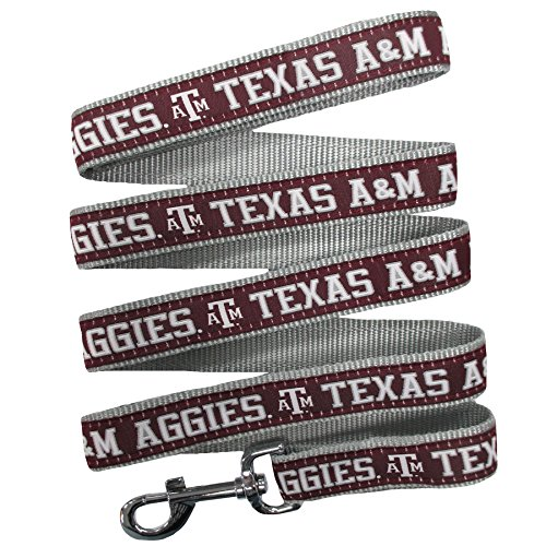 - Pets First Collegiate Pet Accessories, Dog Leash, Texas A&M Aggies, Large