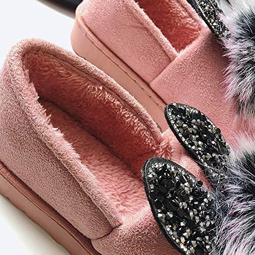 Haut Chaud Neige Tacon Hiver En t Rosa Peluche Scurit Homme Travail Femmes Confortable Coton Plates Bottes Noir Femme Petites De Alikeey Chaussures PZq606