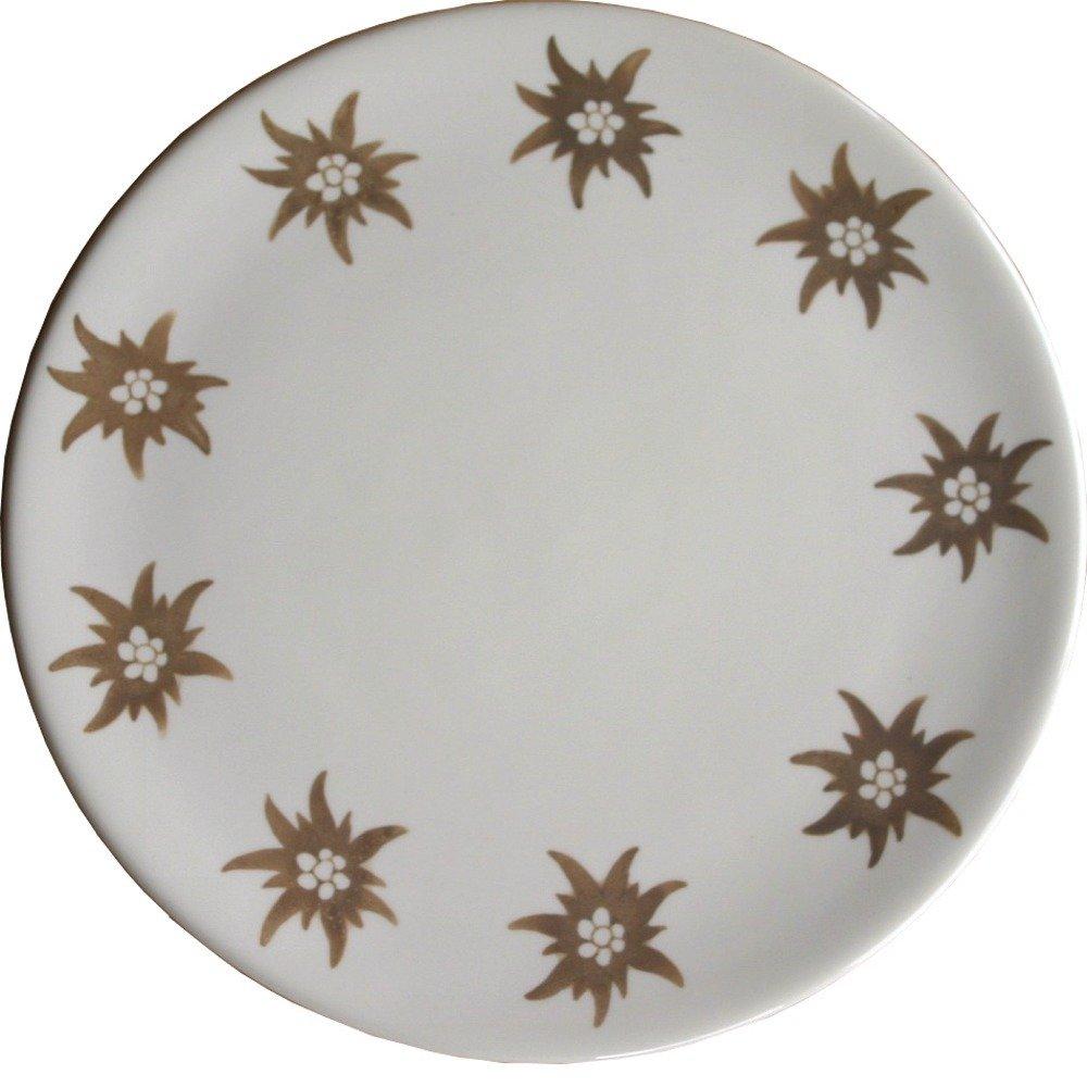 L'assottigliamento Del Piatto Da Dessert Design Ceramico Ocl Ce001 Edelweiss Dipinto A Mano Con 1,5 Cm Bianco/beige E Marrone
