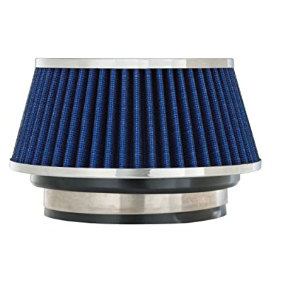 Spectre Universal Clamp-On Air Filter: High Performance, Washable Filter: Round Tapered; 3 in/3.5 in/4 in Flange ID; 2.625 in (67 mm) Height; 6 in (152 mm) Base; 4.75 in (121 mm) Top, SPE-8166: Automotive