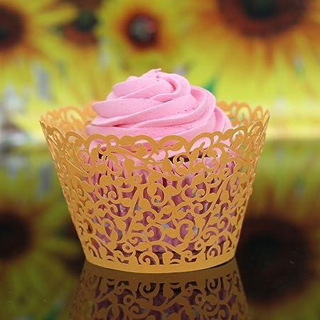 Yuver Tm Schneiden Zarte Geschnitzte Blumen Rebe Muffin Kuchen