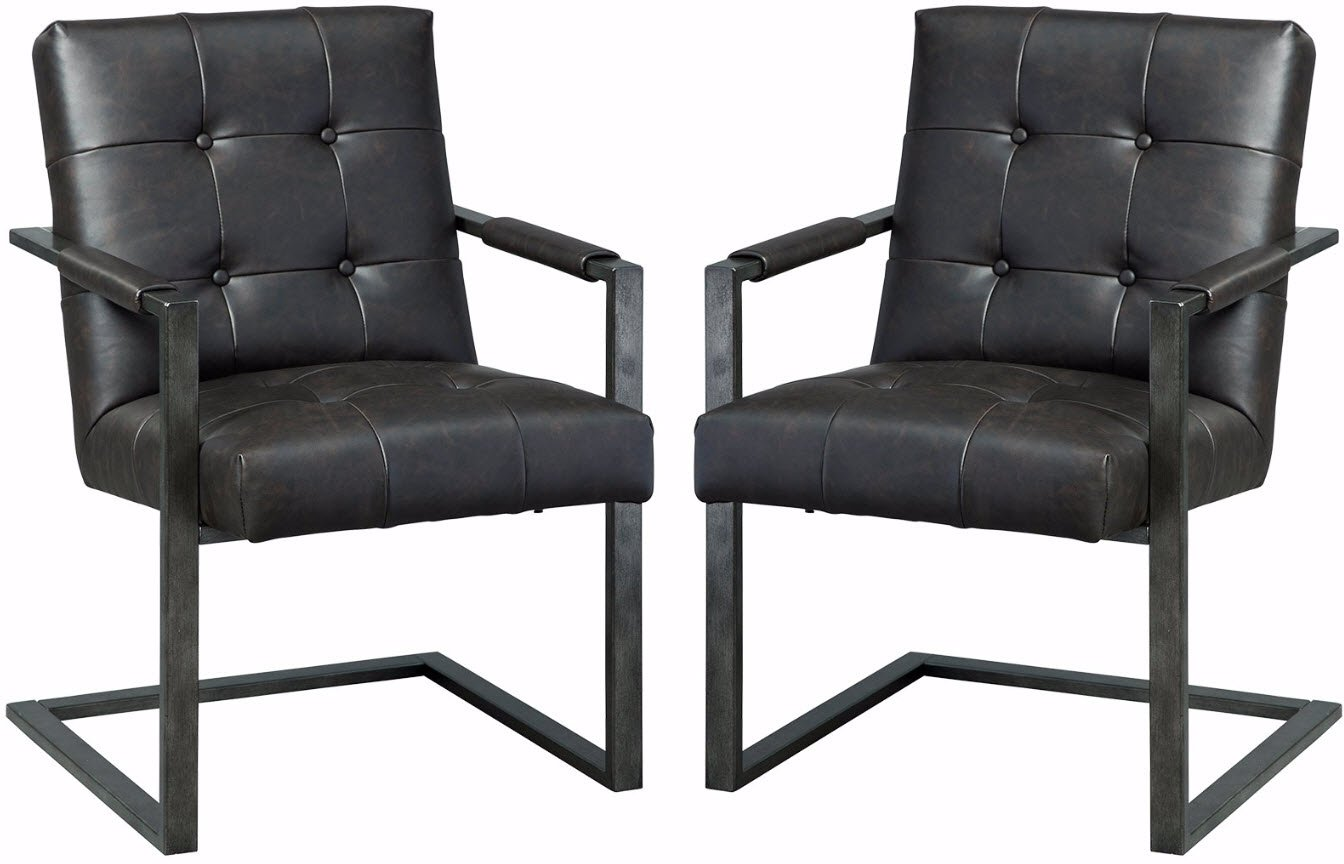 Ashley Furniture Signature Design - Starmore Home Office Chairs - Set of 2 - Contemporary - Brown
