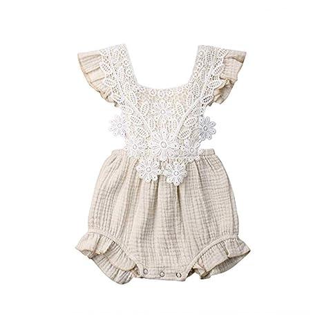 CIPOPO Pijama de Verano para bebé, recién Nacidos, con Flores y ...