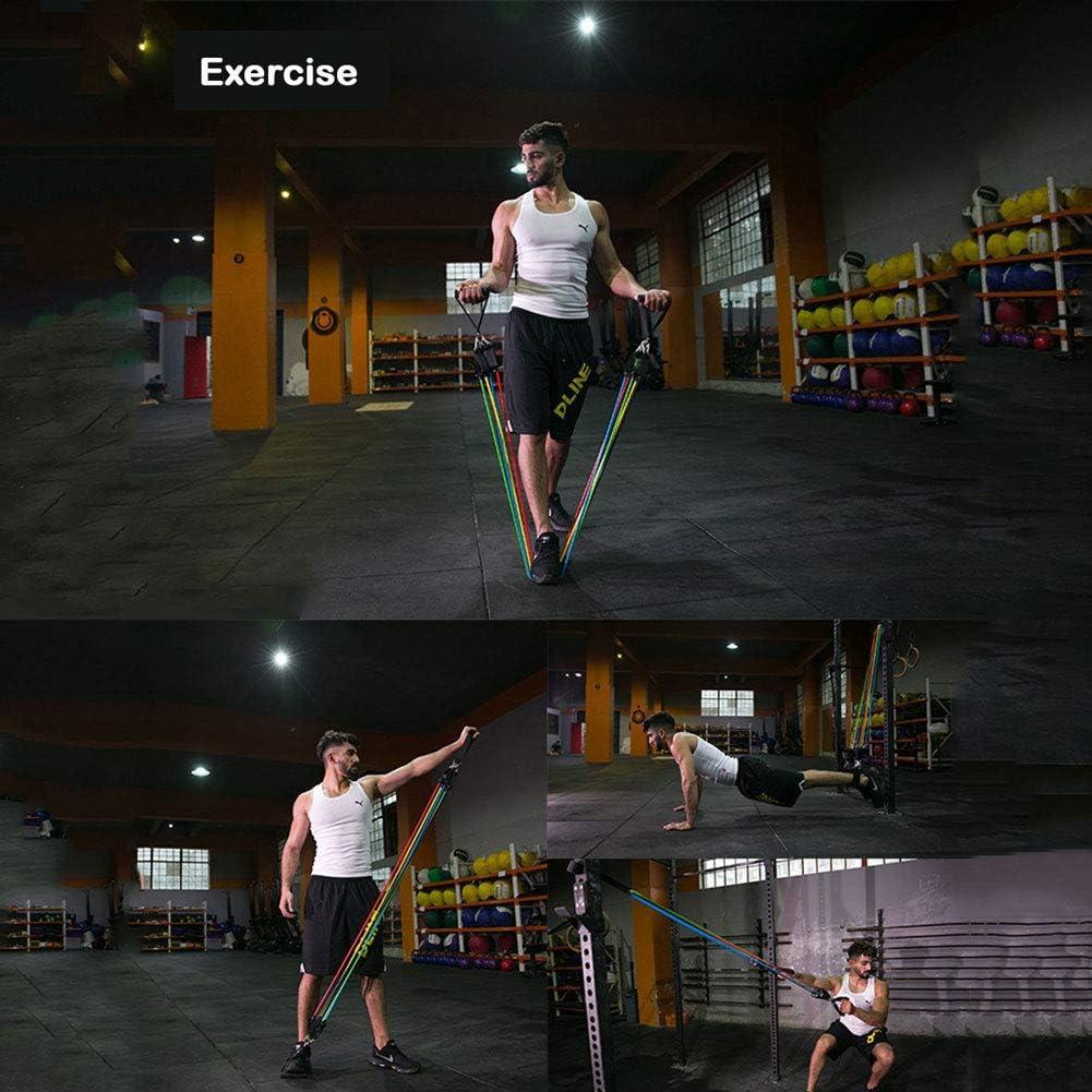CUTEY Las Bandas de Resistencia Fitness Elastic Crossfit Yoga Goma Tubos de extracci/ón Yoga Bucle de la Cuerda en el Pecho sesi/ón de Entrenamiento Muscular de Agarre Bandas de Resistencia Gear