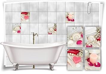 Fliesenaufkleber Fliesenbild Fliesen Aufkleber Sticker Blumen Wellness Rose Bild