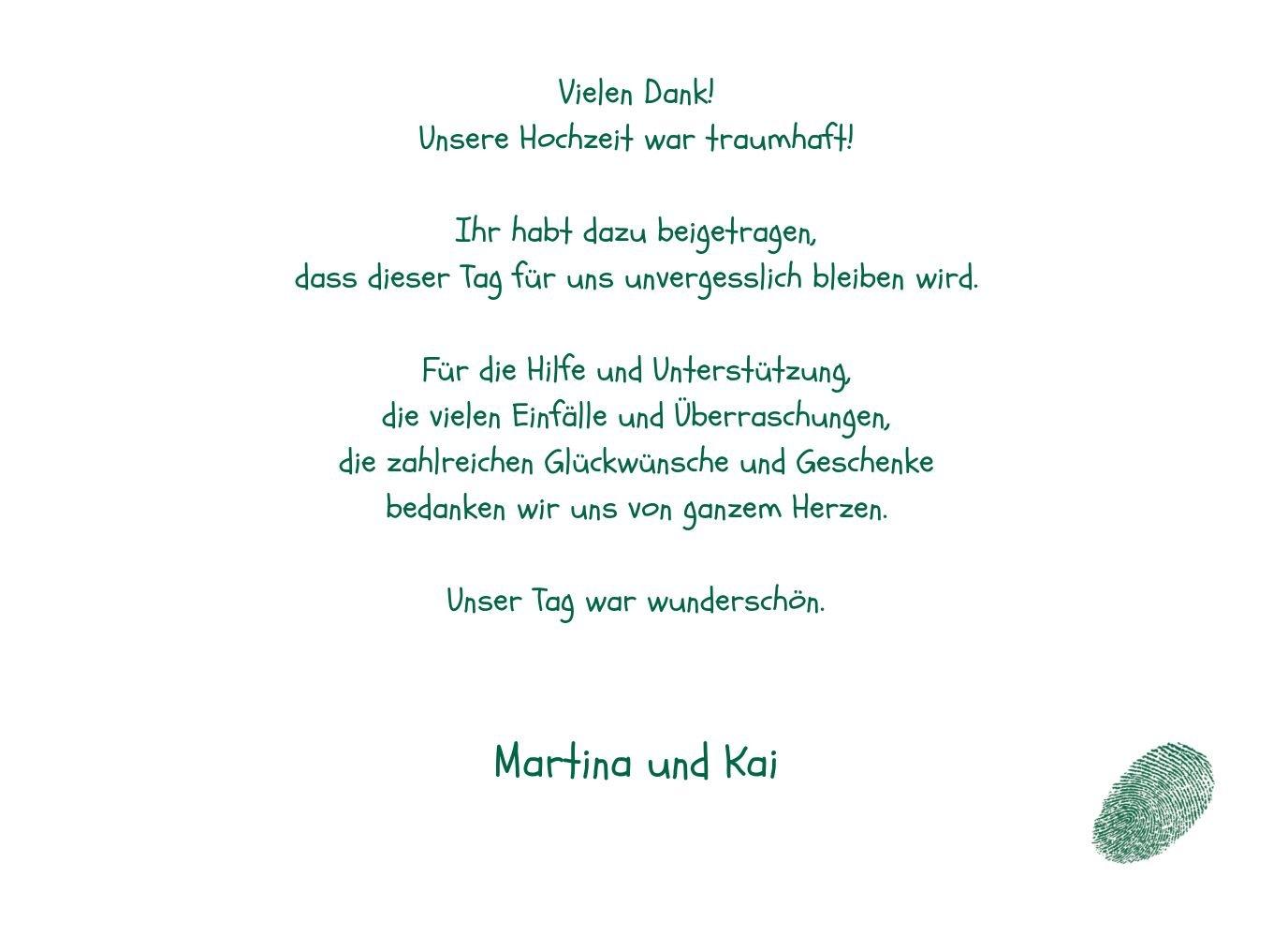 Kartenparadies Danksagung für Hochzeitsgeschenke Hochzeit Hochzeit Hochzeit Dankeskarte fingerprint, hochwertige Danksagungskarte Hochzeitsglückwünsche inklusive Umschläge   20 Karten - (Format  148x105 mm) Farbe  Grau B01MUD28YX | In hohem Grade geschä eb62b6
