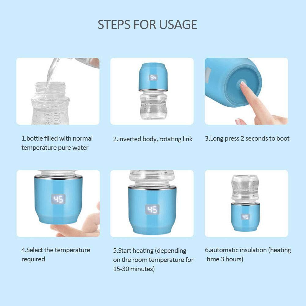 chauffage trois /à quatre fois Biberon et appareil de chauffage portatifs pour le lait de trempage ou de lait chauff/é charge pendant deux heures
