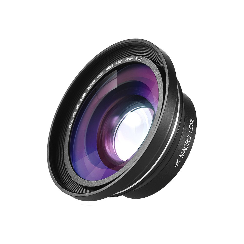 Andoer 30mm 37mm 0.39X Full HD Wide Angle Macro Lens for Ordro Andoer Digital Video Camera Camcorder by Andoer